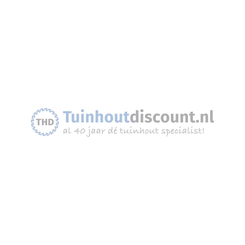 Hardhout scherm Comfort recht 180x180cm 15 planks