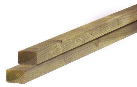 Douglas balk fijnbezaagd 4,5x7,5cm groen geïmpregneerd