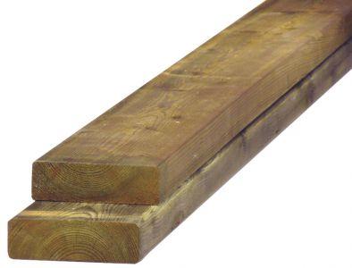 Douglas balk fijnbezaagd 7,5x17,5cm groen geïmpregneerd