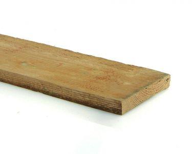 Douglas plank fijnbezaagd 2,5x25,0cm groen geïmpregneerd