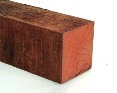 Paal Angelim Hardhout Fijnbezaagd 125x125mm