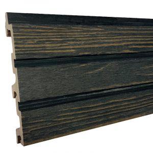 Gevelbekl. Stripes S Driftwood Black 24,5x142(163)x5900mm