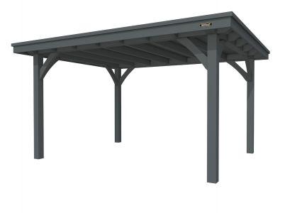 Buitenverblijf plat dak Excellent I, vuren, basismodel L/E,