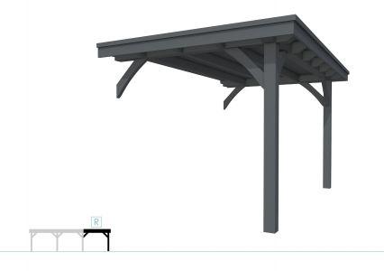 Buitenverblijf plat dak Excellent Modulair, vuren, rechterde
