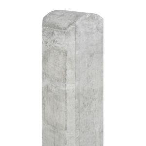 Tussen paal beton Waal 100x100x1900 wit/grijs