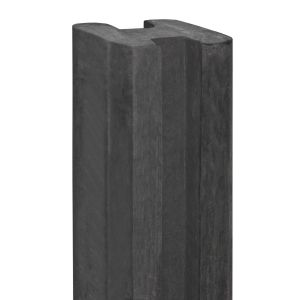Hoekpaal beton Spaarne 115x115x2800 antraciet