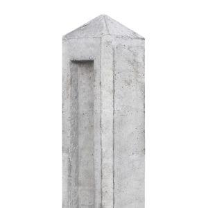 Tussenpaal beton Vliet 100x100x980 wit/grijs