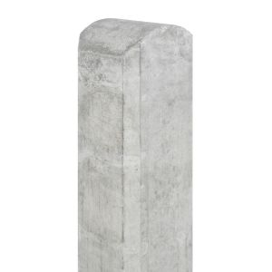 Tussenpaal beton Waal 100x100x2800 wit/grijs