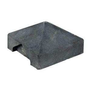 Beton afdekpet antraciet 14.0x14.0x5.0cm hoekmodel