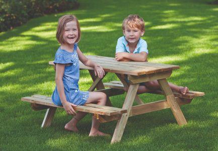 Kinderpicknicktafel geimpregneerd Grenen