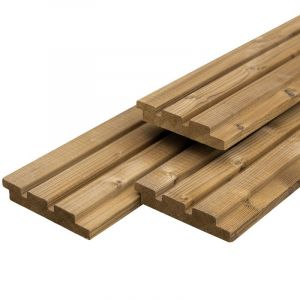 Caldura Wood Triple Profiel 26x140mm Thermisch Gemodificeerd