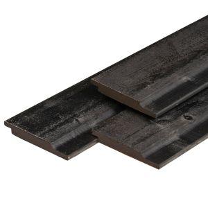 Rabat halfhouts NE zwart vuren 19x145mm