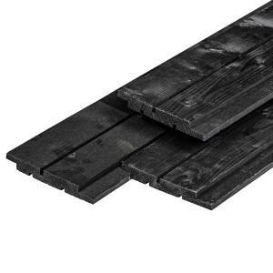 Channel siding NE Vuren zwart gespoten 18x145mm