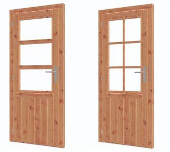 Enkele deur halfglas lariks/douglas LD