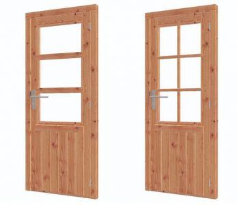 Enkele deur halfglas lariks/douglas RD