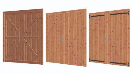Dubbele deur lariks/douglas 164.6x199.6cm