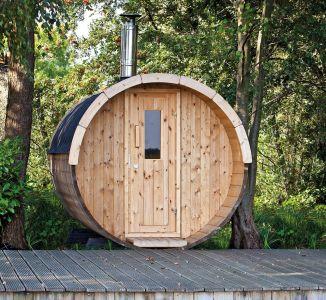 Saunabarrel Vuren hout 195cm, 300cm lang