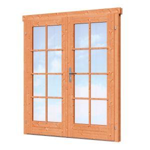 Dubbele deur D2 Red Class Wood