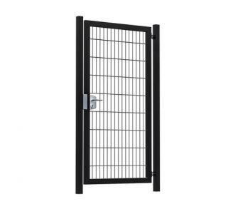 Hillfence metalen enkele poort Premium-line 100x180cm zwart