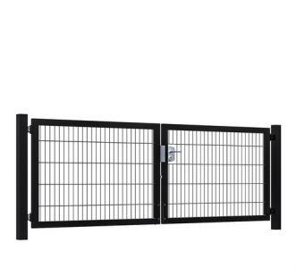 Hillfence metalen dubbele poort Premium-line 300x100cm zw.