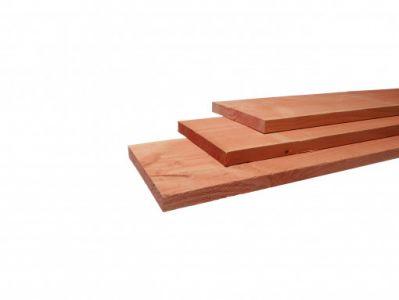Douglas fijnbezaagde plank 22x200x3000mm groen geimpregneerd
