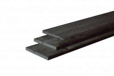 Douglas fijnbezaagde plank 22x200mm zwart gedompeld