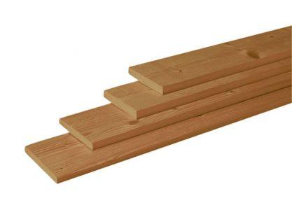 Douglas plank 2,8x24,5cm groen geïmpregneerd