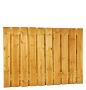 Grenen geschaafd plankenscherm 21-planks 17 mm, 180 x 130 cm