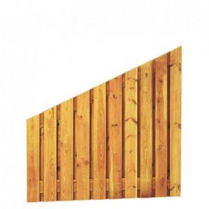 Grenen geschaafd plankenscherm 21-planks 17 mm, 180 x 180/90