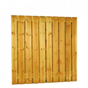 Grenen geschaafd plankenscherm 21-planks 17 mm, 180 x 180 cm