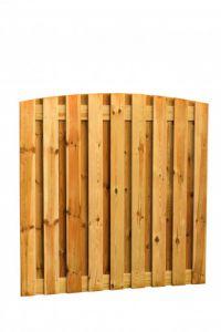 Grenen geschaafd plankenscherm 19-planks 15 mm, 180 x 180 cm