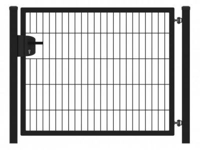 Hillfence metalen enkele poort Eco-line 100x100cm zwart
