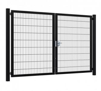 Hillfence metalen dubbele poort Premium-line 300x180cm zw.
