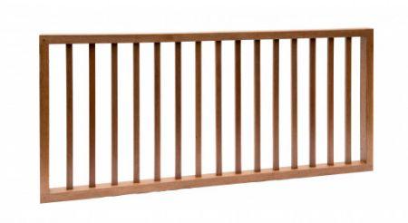Hardhouten spijlenhek 180x80cm Frame 4,5x7cm spijlen 2x3cm