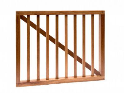 Hardhouten spijlenhek poort 100x80cm
