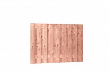 Douglas geschaafd plankenscherm 19-planks 16 mm, 180 x 130 c