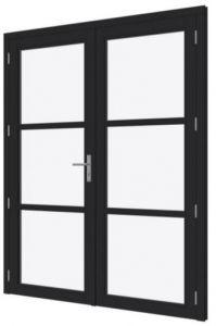 DOUGLAS Steellook deur dubbel 2x880x2274mm+kozijn 1894x2345m
