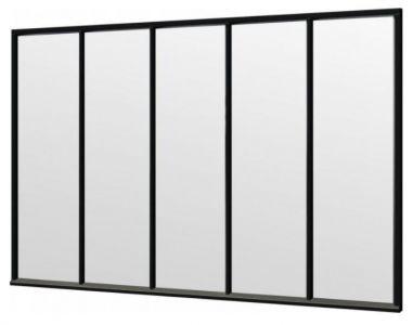 Trendhout steellook raam 3405x2200mm zwart module E-01