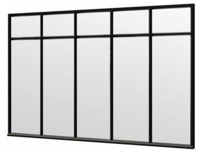 Trendhout steellook raam 3405x2200mm zwart module E-02