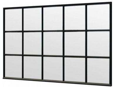 Trendhout steellook raam 3405x2200mm zwart module E-03