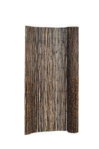 Bamboescherm op rol 180 x 180 cm, zwart.