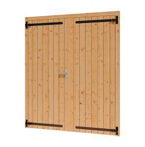 Opgeklampte deur dubbel 1560x1950+kozijn 1696x2021mm onbeh,