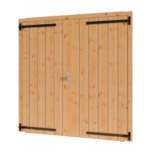 Opgeklampte deur dubbel 2x930x1950+kozijn 1996x2021mm