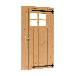 Toplawood Douglas opgeklampte deur RD met raam 930x1950mm