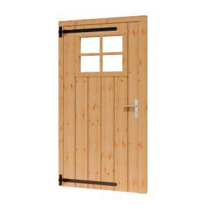 Opgeklampte deur enkel LD met RAAM 930x1950+kozijn1064x2021m