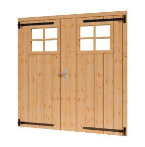 Toplawood Douglas opgeklampte deur met raam 1860x1950mm