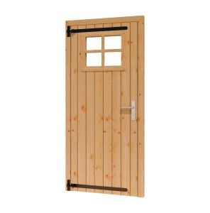 Opgeklampte deur enkel LD met RAAM 780x1950+kozijn 914x2021m