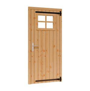 Opgeklampte deur enkel RD met RAAM 780x1950+kozijn 914x2021m