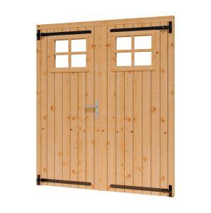 Toplawood Douglas opgeklampte deur met raam 1560x1950mm