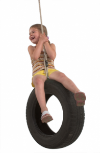 Autobandschommel met touw